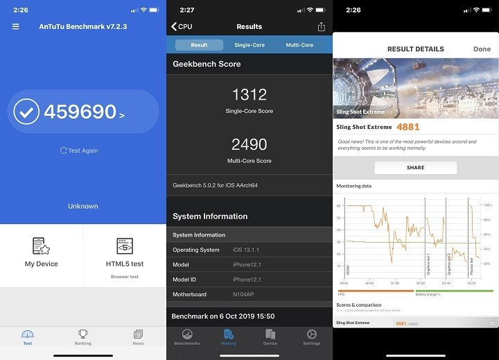 Điện thoại iPhone 11 64GB | Điểm hiệu năng Antutu Benchmark