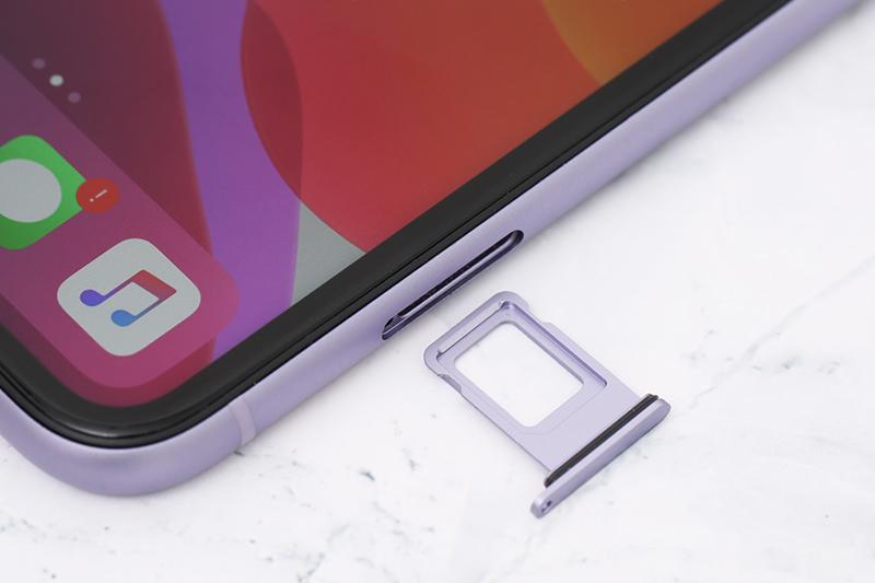 Điện thoại iPhone 11 64GB | Khay sim