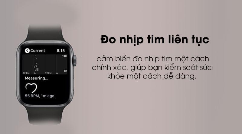 Đo nhịp tim chính xác với Apple Watch S5 LTE 44mm