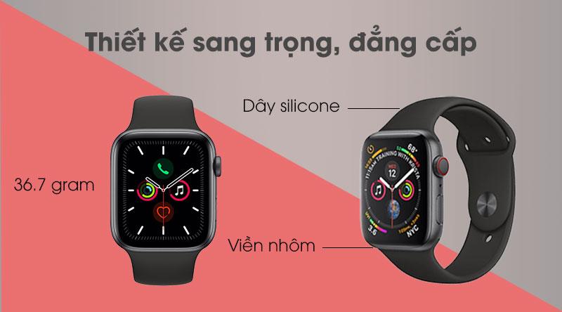 Apple Watch S5 LTE 44mm có thiết kế đẳng cấp