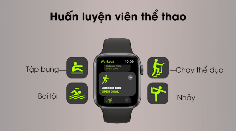 Apple Watch S5 LTE 44mm sẽ là huấn luyện viên của bạn