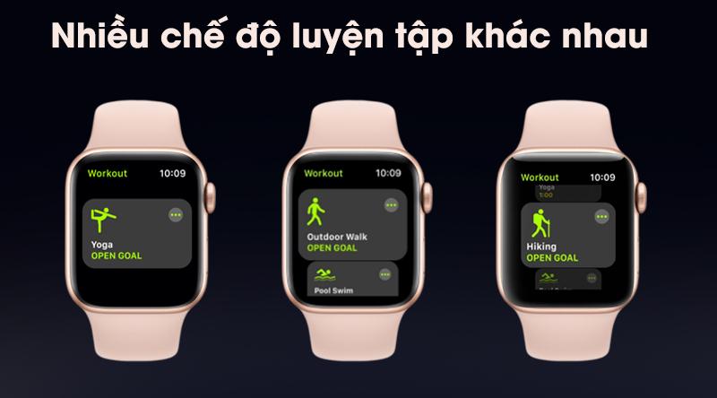Apple Watch S5 có nhiều chế độ tập luyện khác nhau