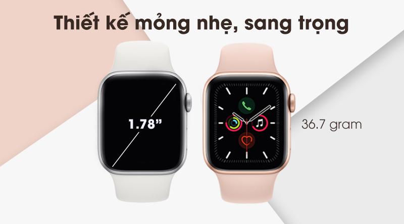 Thiết kế sang trọng của Apple Watch S5