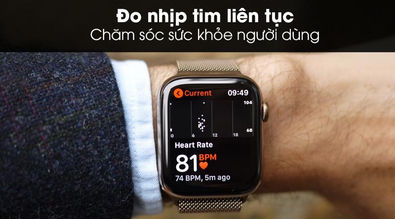 Apple Watch S5 LTE 44mm viền thép dây thép đo nhịp tim liên tục